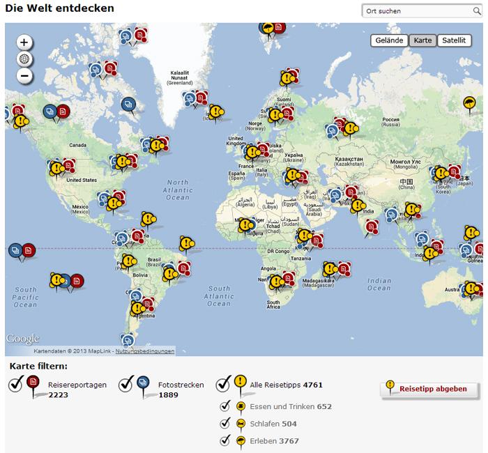 Die Welt entdecken auf Spiegel Online Reise