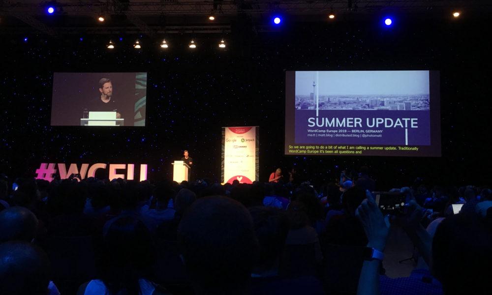 Matt Mullerweg auf dem WordCamp Europe 2019 in Berlin