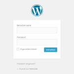 <strong>WordPress Login</strong> ins Backend