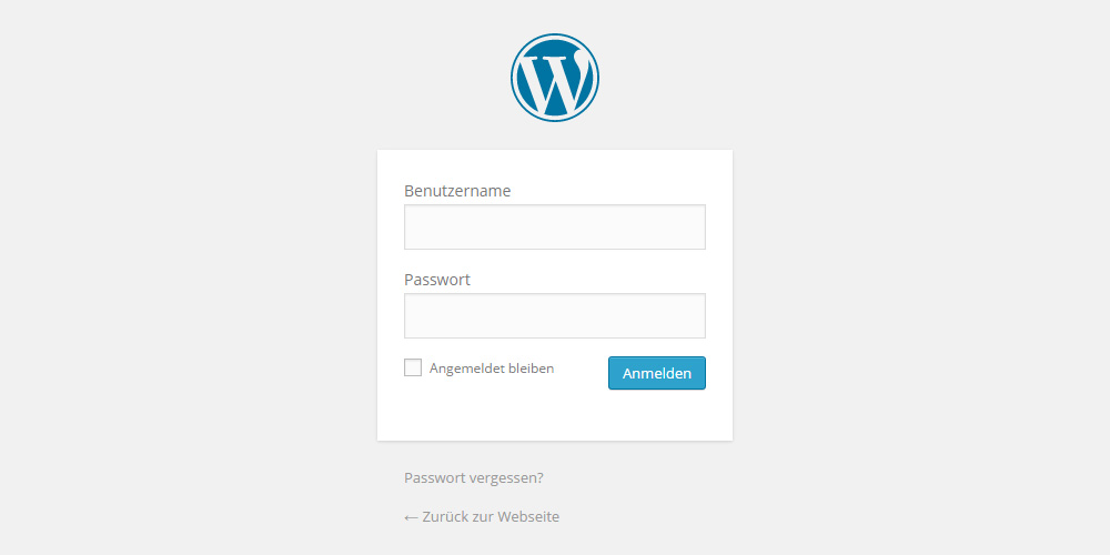 WordPress Login ins Backend unter wp-login.php